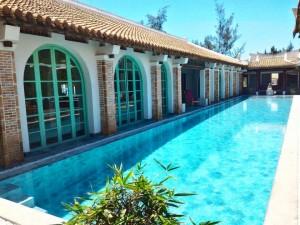 Inside swimming pool